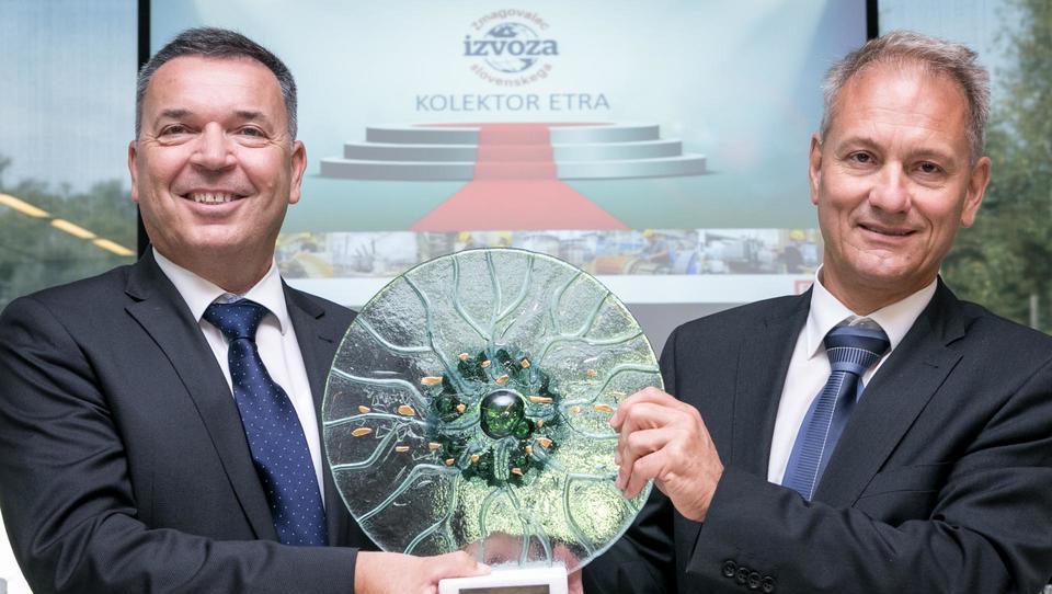 Kolektor Etra je zmagovalec slovenskega izvoza