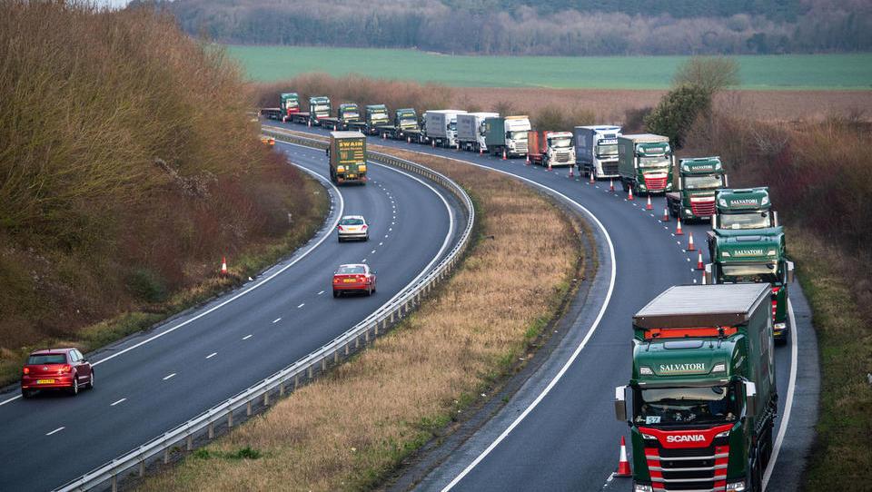 Tajno poročilo o trdem brexitu: zamude v transportu, dražja hrana, motnje v oskrbi z zdravili
