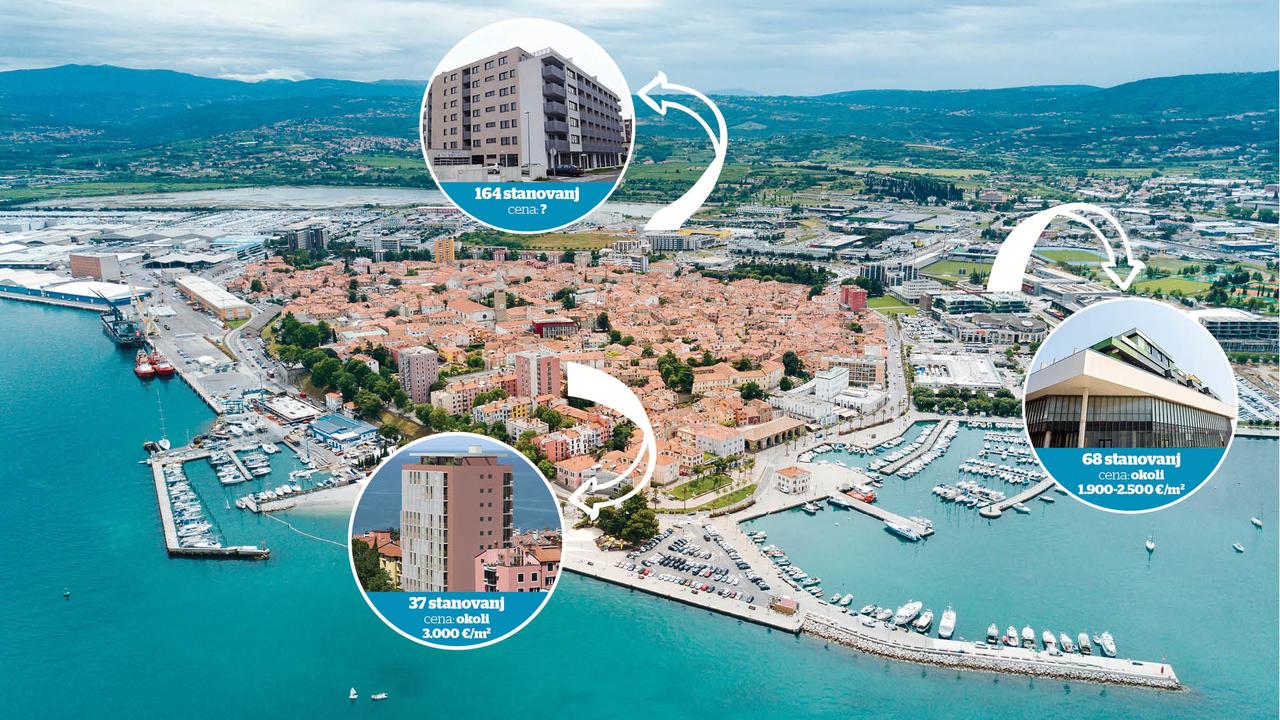 Stanovanjska bitka v Kopru: ko trg preplavi skoraj 270 novih stanovanj