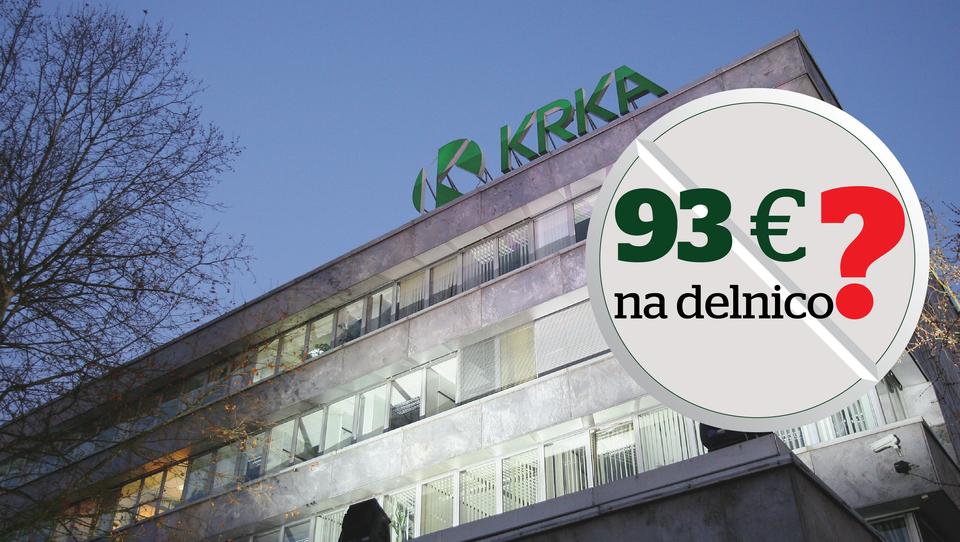 Delničarji Krke, kaj bi naredili, če bi na mizo dobili ponudbo za 93 evrov na delnico? Bi jo sprejeli?