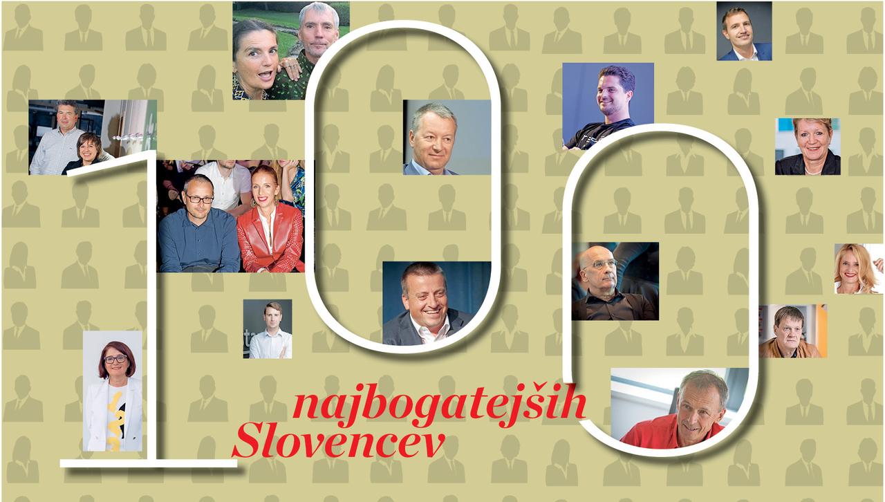 LESTVICA: najbogatejši Slovenci v 2019!