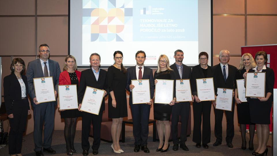 Glavne nagrade za najboljša letna poročilaKrki, Elesu, Mariborskemu vodovodu in CEF