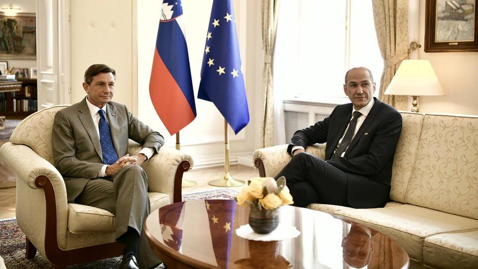 Pahor: Mandat za sestavo vlade bom podelil Janši