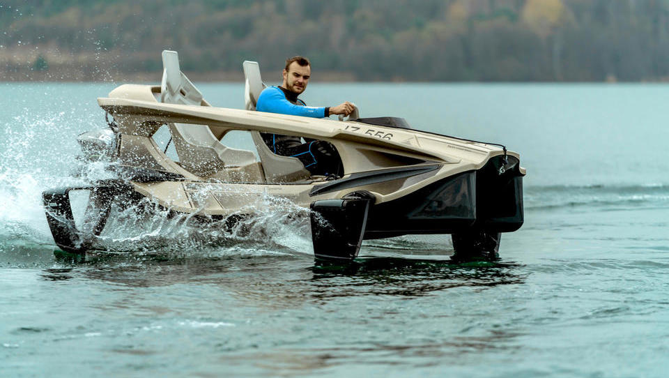 Quadrofoil za električni mini hidrogliser zbral tri milijone evrov