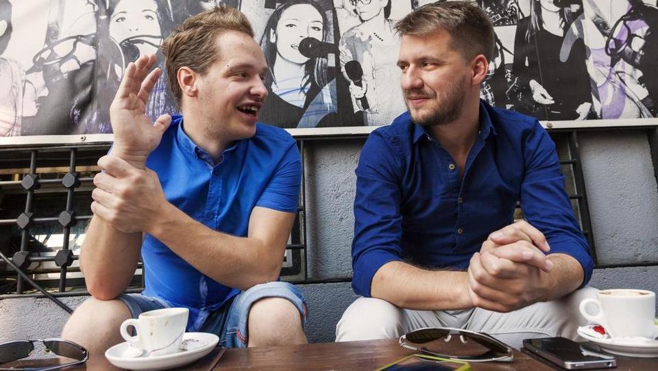 (intervju) Režiser Rok Biček in igralec Matej Rajk: Ko je scenarist kar življenje samo