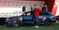 Ronaldo posegel po smetani, Audiju RS6
