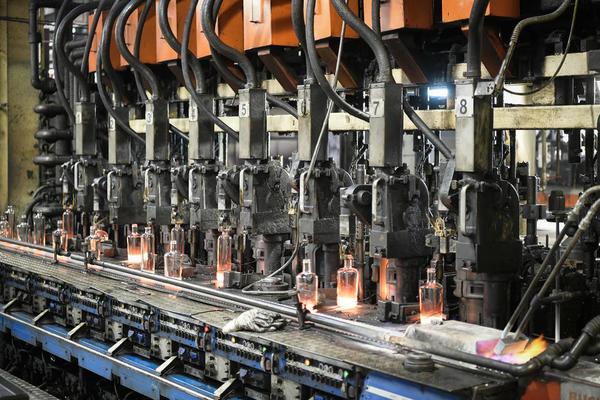 Steklarna Hrastnik 1860, production, hot line, injection molding of bottles; Hrastnik, Slovenia, June 14, 2018, Photo: Jure Makovec