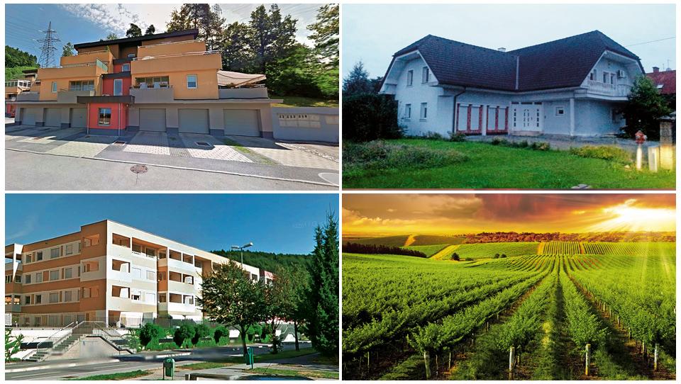 TOP dražbe: stanovanja v Ljubljani in Velenju, hiša v Domžalah, poslovna celota Vinaga…