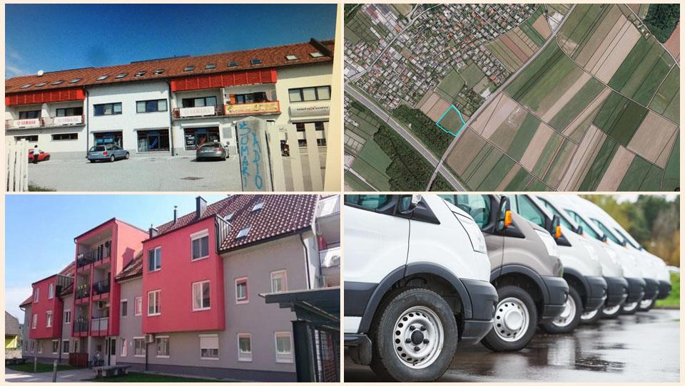 TOP dražbe: Stanovanje za 23 tisočakov, zemljišče v Laškem za 30 tisočakov, kombiji, ...