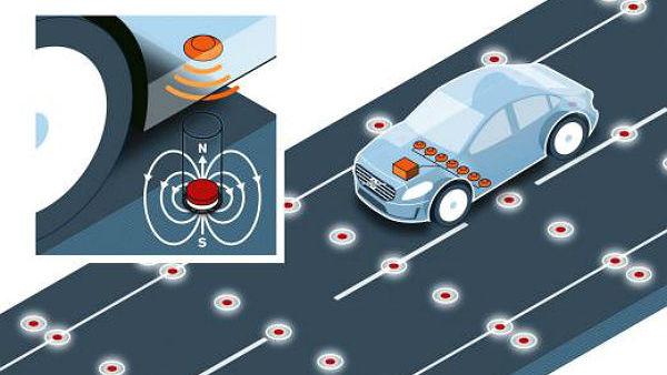 Volvo bi z magneti olajšal samostojno vožnjo