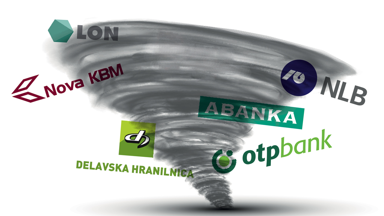 Nova slika slovenskega bančništva: NLB in združena NKBM, potem pa daleč nobenega