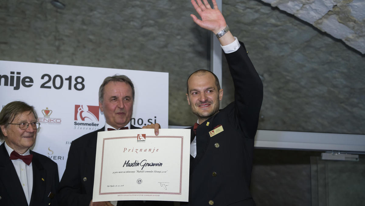 Najboljši slovenski sommelier je Martin Gruzovin